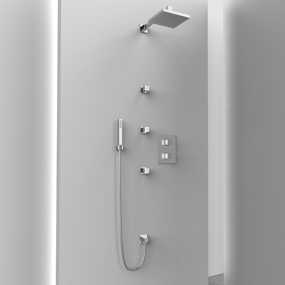 AM401 ambiente doccia completo quadrato