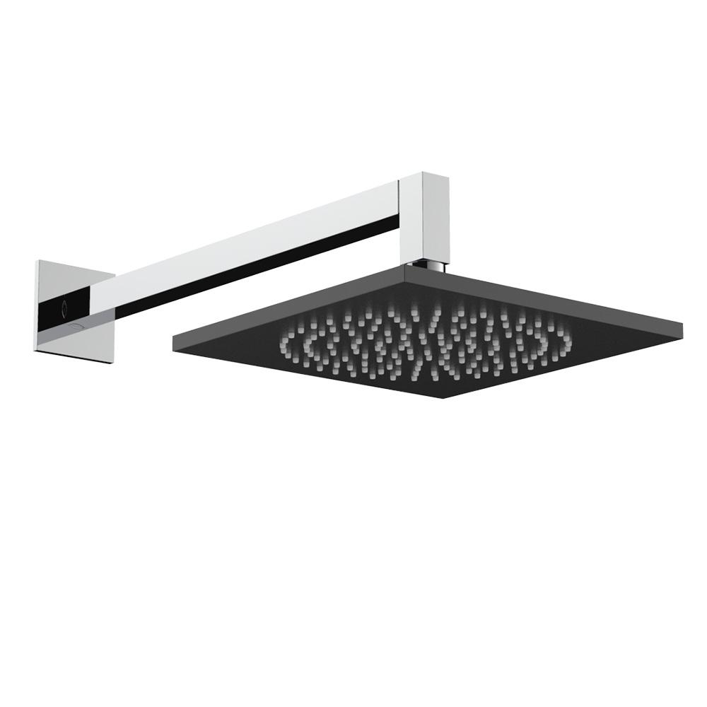Soffione doccia quadrato in alluminio anodizzato