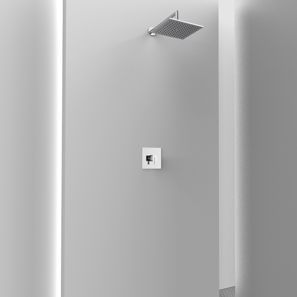 AM410M Ambiente doccia completo quadrato