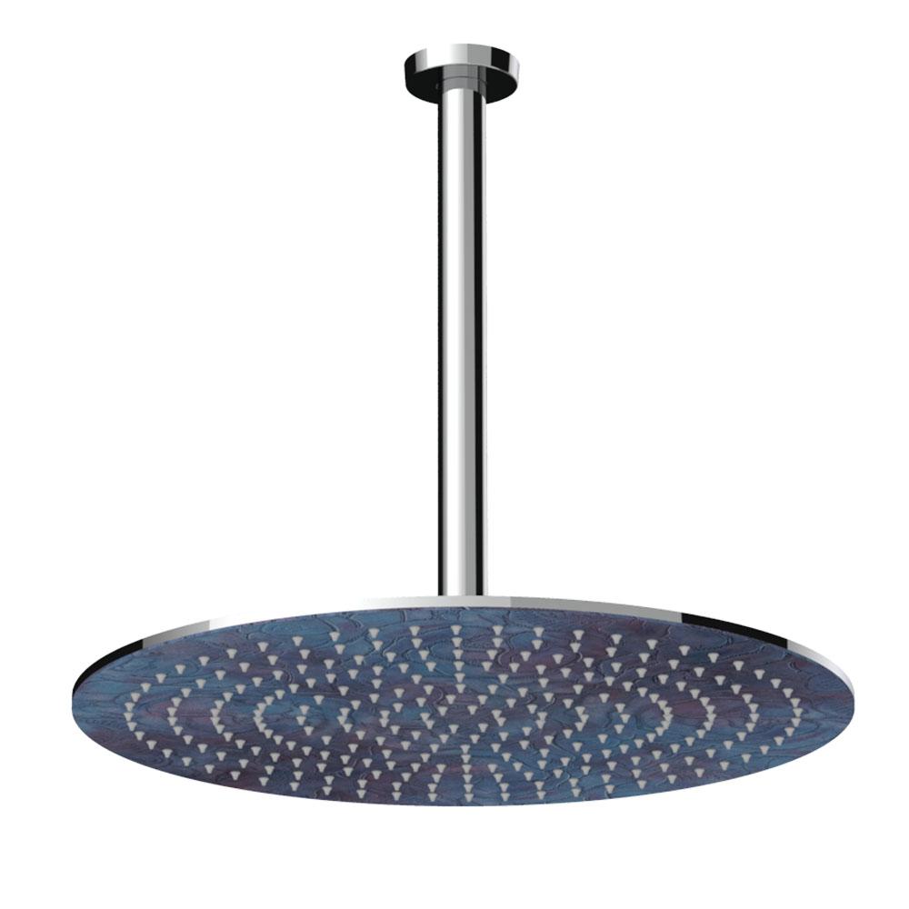 Soffione doccia tondo con braccio a soffitto arabesque