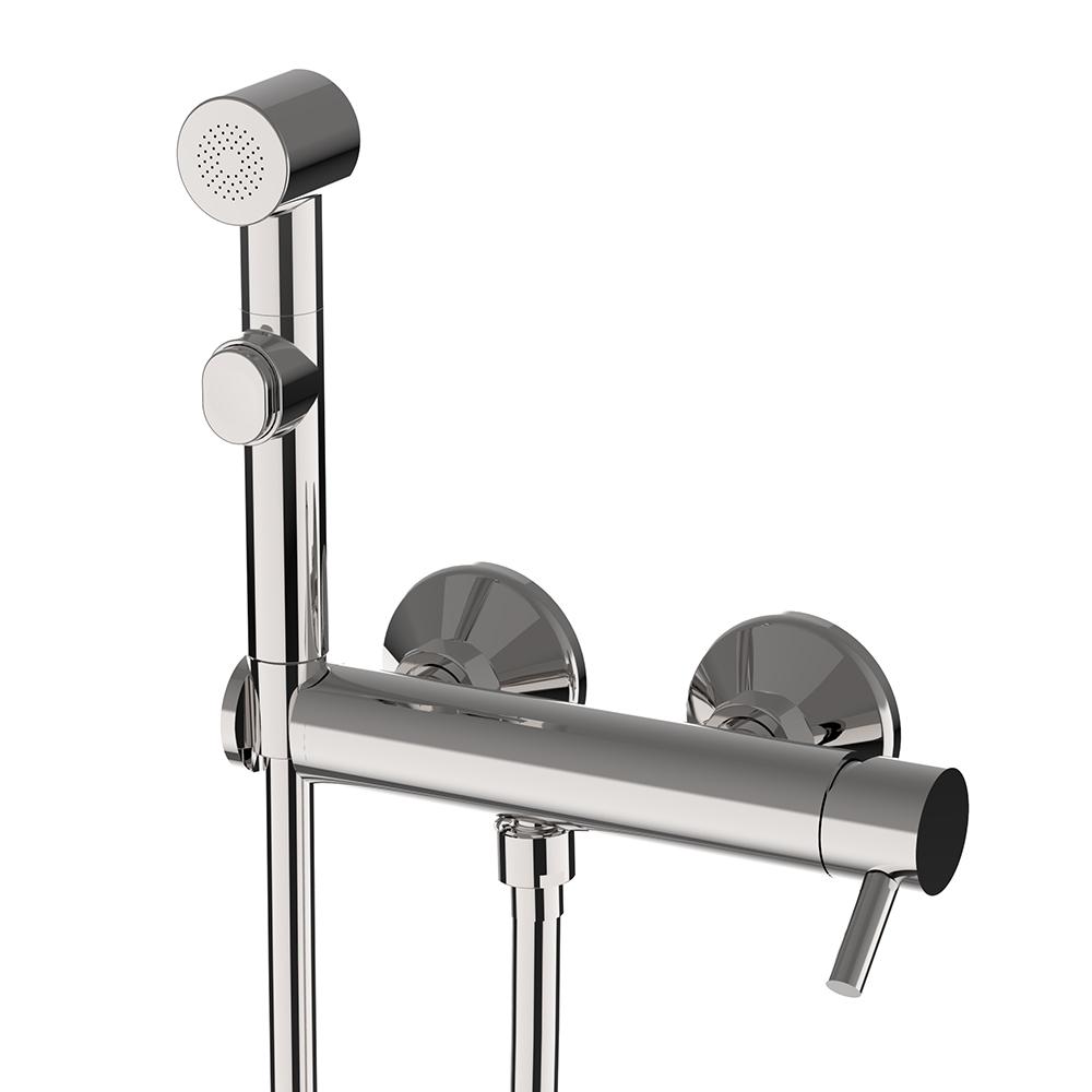 Miscelatore con doccia igienica e supporto in ABS